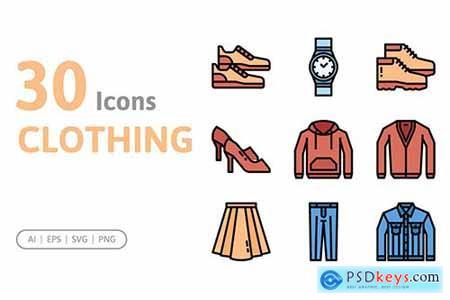 30 Clothing Icons 4SJ54XM