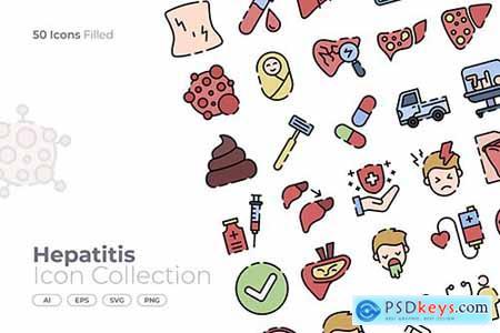 Hepatitis Filled Icon GB54D7D
