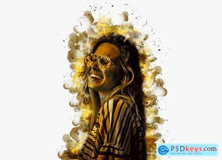 Watercolor Portrait PS Action V-2 6143547