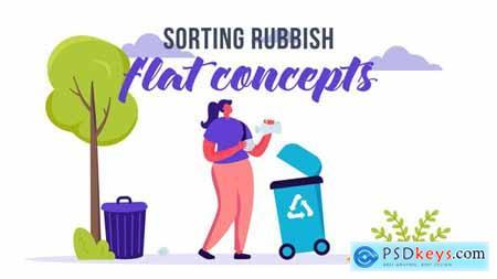 Sorting rubbish - Flat Concept 33189237