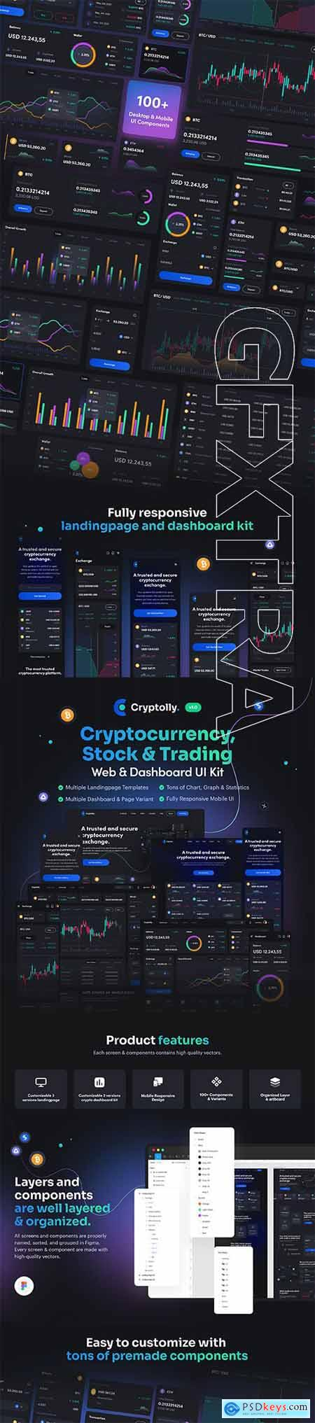 Cryptolly - Cryptocurrency Web & Dashboard UI Kit