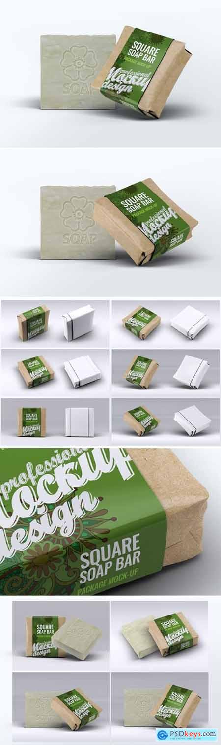 Square Soap Bar Package Mock-up