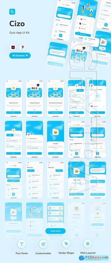 Cizo - Quiz App UI Kit