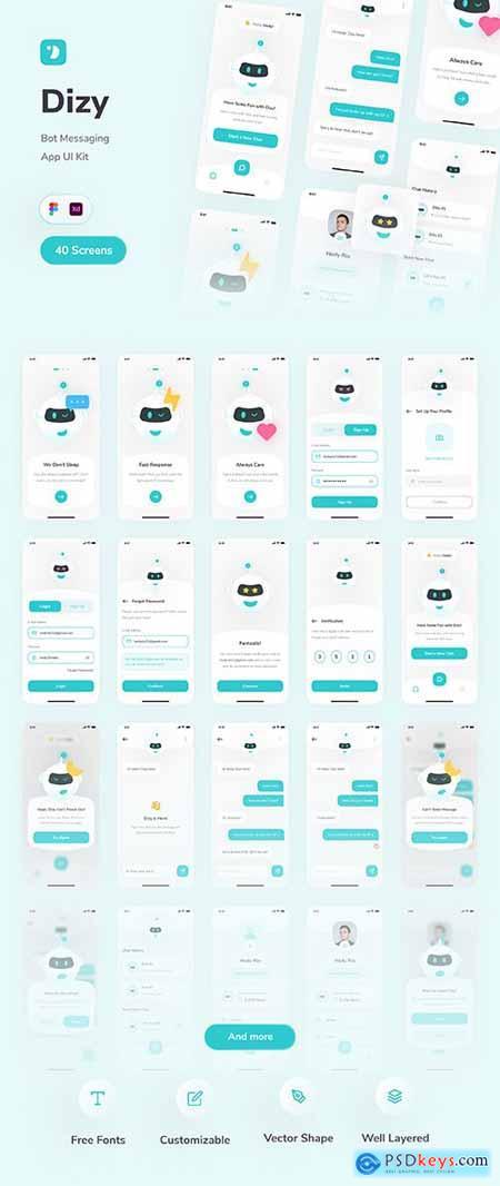 Dizy - Bot Messaging App UI Kit