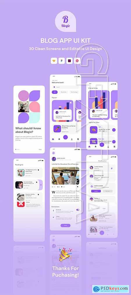 Blogie - Blog Apps UI KIT