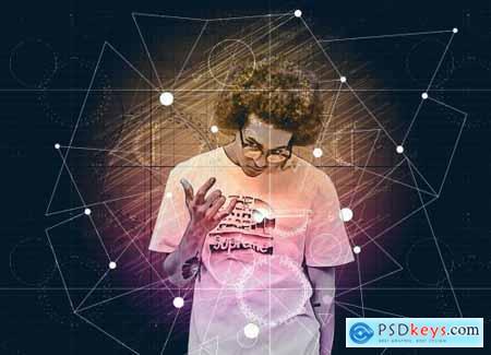 Geometric Portrait Photoshop Action 5942219