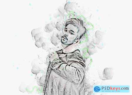 Advance Sketch Photoshop Action 5956234