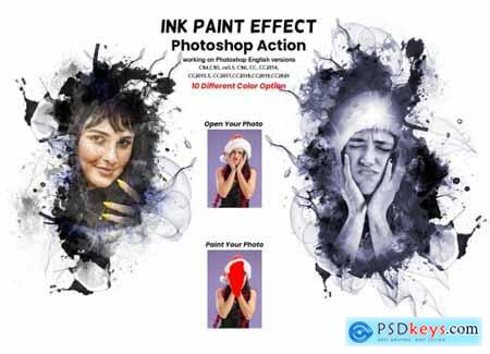 Ink Paint Effect Photoshop Action 6240910