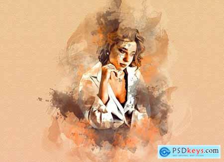 Antiq Watercolor Art PS Action 6305902