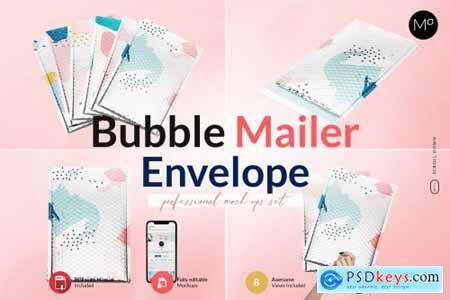 Bubble Mailer Envelope Mock-ups Set 6234407