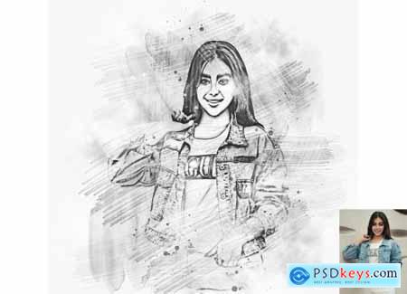 Smudged Sketch Photoshop Action 6322983