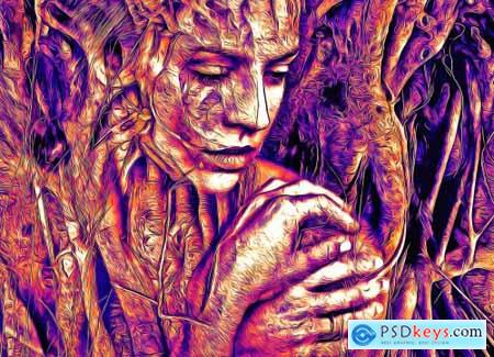 Popular Oil Paint Photoshop Action 6278773
