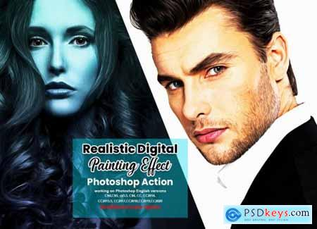 Realistic Digital Painting Effect 6316388