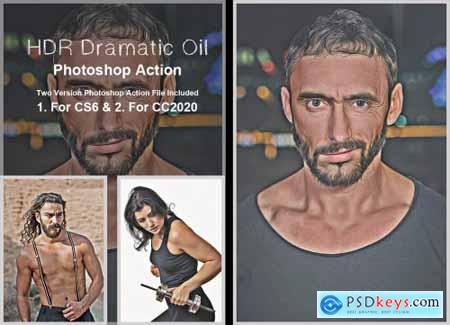 HDR Dramatic Oil Photoshop Action 5383148