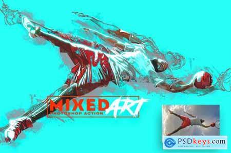 Mixed Art Photoshop Action 32305875