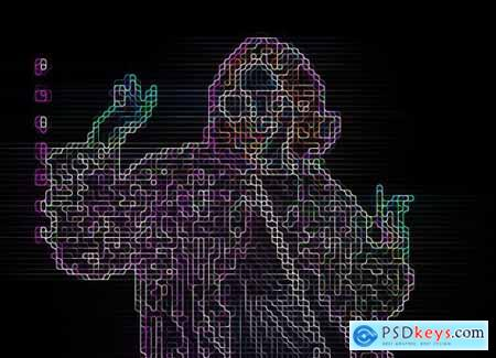 Sci-fi Digital Portrait PS Action 5904897