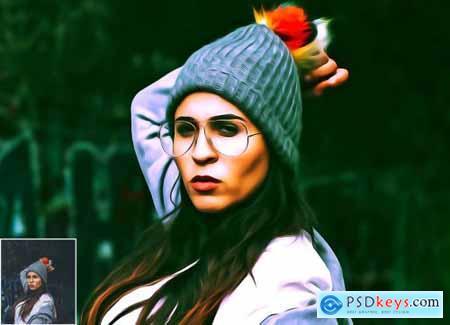 Pure Oil Portrait Photoshop Action 5360743