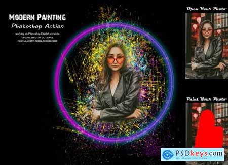 Modern Painting Photoshop Action 5383121