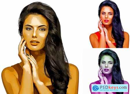 Oil Paint Portrait Photoshop Action 5689481