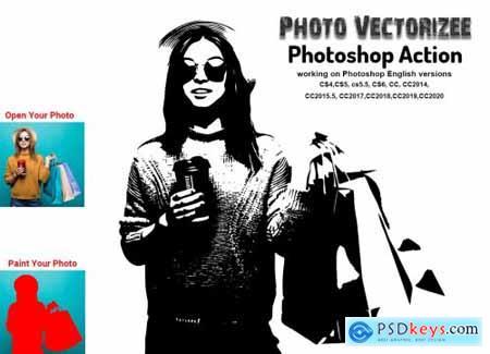 Photo Vectorizer Photoshop Action 5683801
