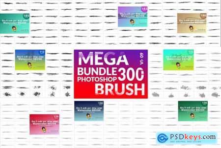 Watercolor Brush Bundle 5754878