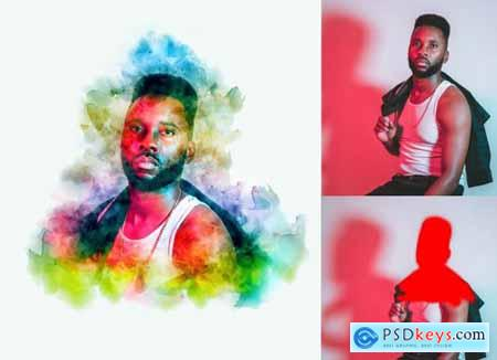 Watercolor Painting Photoshop Action 5836681