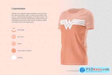 Womens T-shirt Animated Mockup 5849092