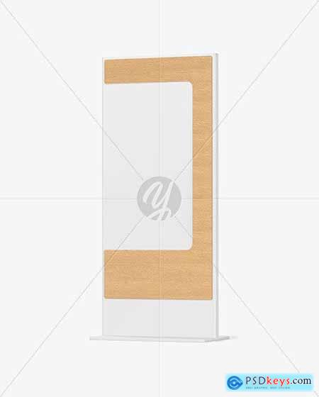 Wayfinding Stand With Wooden Frame 86598