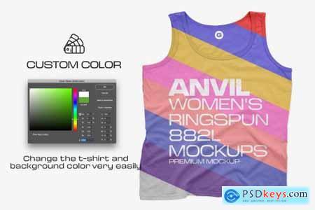 Anvil Womens Tanks 882L Mockups 6216266