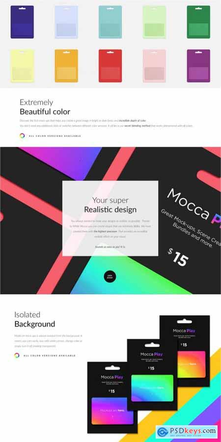 Gift Cards 5 Top Types 25xMockups 6258039