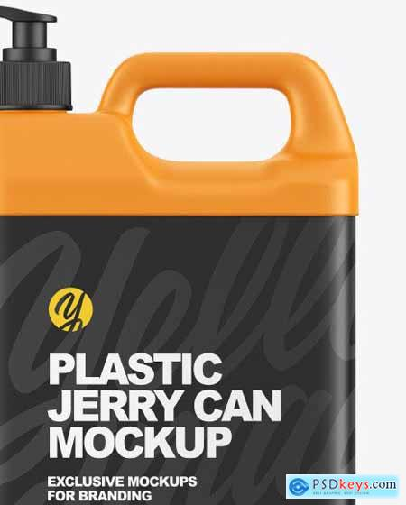 Plastic Jerry Can W- Pump Mockup 86580