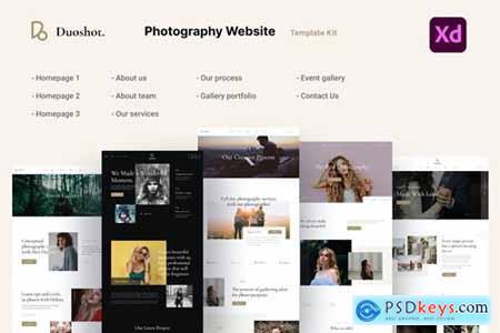 Duoshot - Photography & Portfolio UI Kit