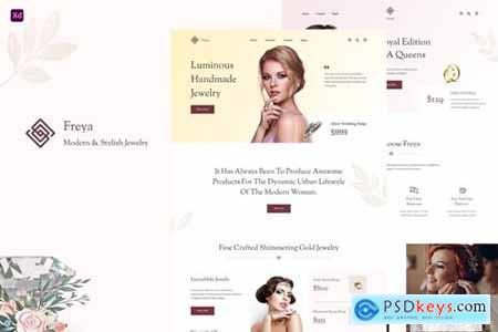 Freya - Jewellery Store UI Kits