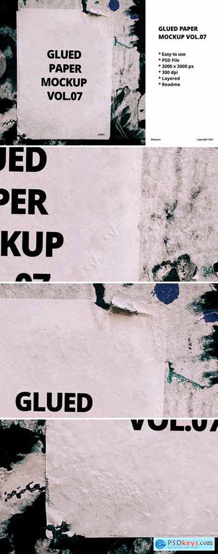 Glued Paper Mockup Vol.07