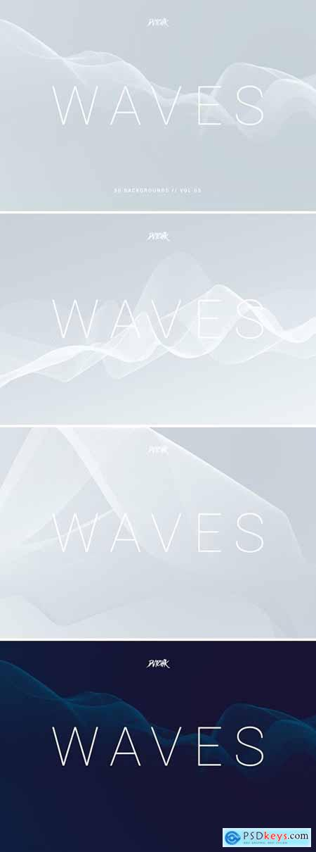 Waves - Network Lines Backgrounds - Vol. 03