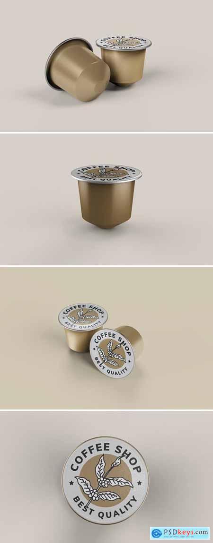 Coffee Capsule Pods Mockup