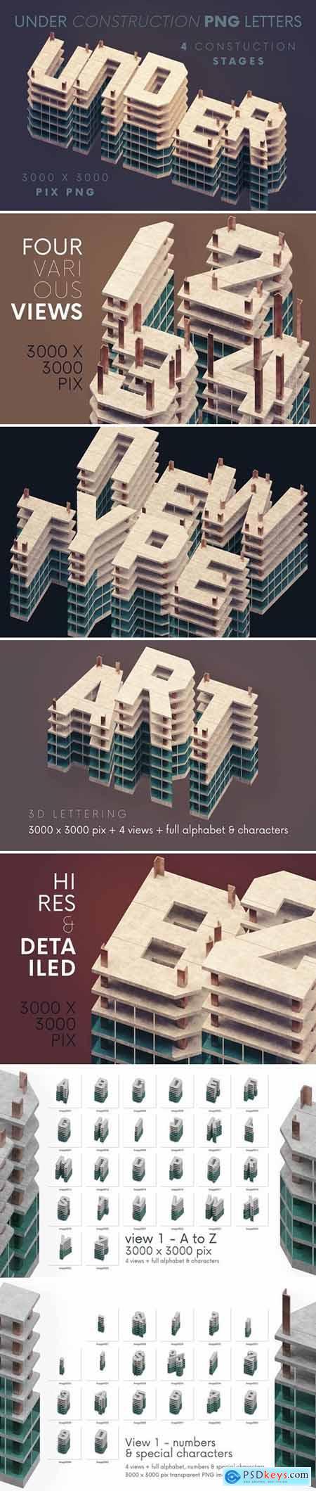 Under Construction - 3D Lettering