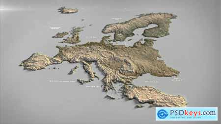 Europe Map DR 33140512