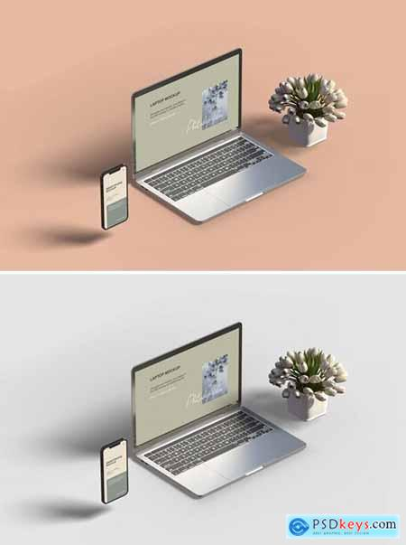 Smartphone and laptop mockup