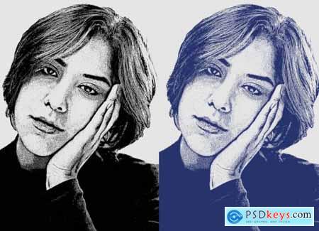 Stipple Effect Photoshop Action 6298928