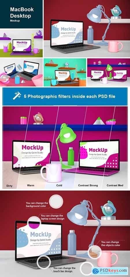 MacBook Desktop Mockup