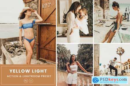 Yellow Light Action & Lightrom Presets