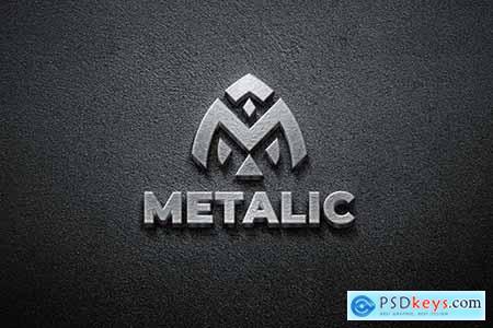 3D Metal - Mockup Logo 9AQ9ALT