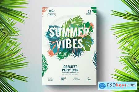Green Floral Summer Flyer Template TYPSS4U