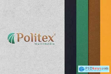 Mockup Logo - Paper Texture K4T7YC9