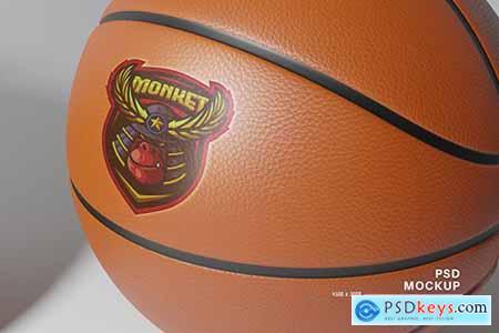 Real Logo on Basketball mockup C4DA957