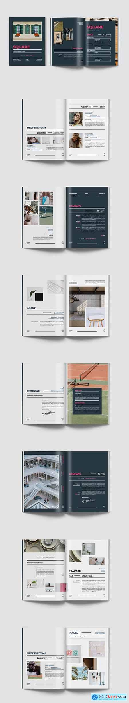 Square - Professional Business Proposal Indesign 2DF4BET