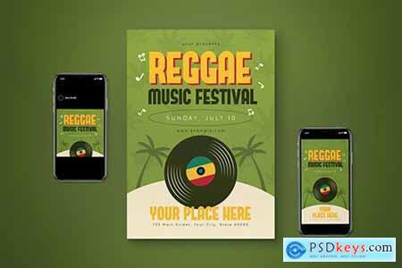 Reggae Music Flyer Set XUFVM2E
