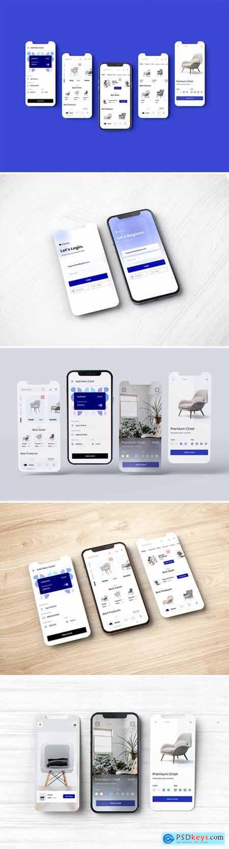 Phone - Mobile - App - UI - Screen Mockup