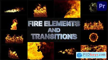 VFX Fire Elements And Transitions Premiere Pro MOGRT 33240521